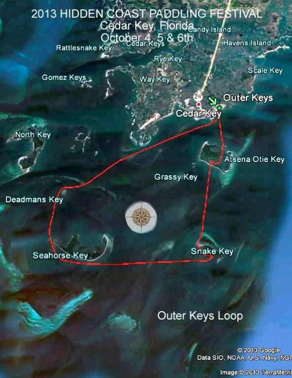 Outer Keys Loop Trail Map